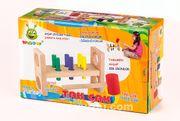 Woodoy Oyuncak Ahşap Çekiçli Tak Çak Oyunu (KR064)