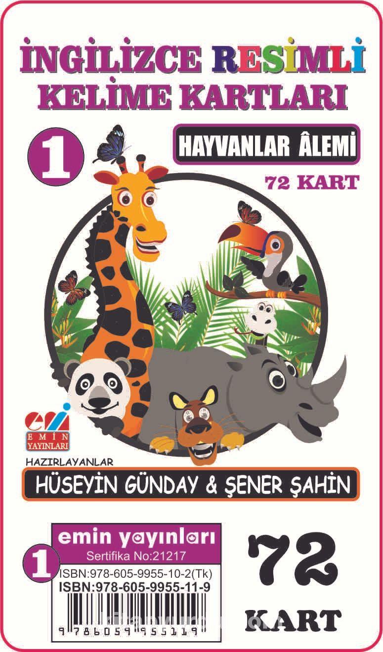 İngilizce Resimli Kelime Kartları 1 / Hayvanlar Alemi - Dr. Şener Şahin pdf epub