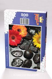 Zen Taşları ve Çiçekler Ahşap Puzzle 500 Parça (BC06-D)