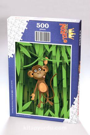 Bambu Ormanında Maymun Ahşap Puzzle 500 Parça (CK04-D)