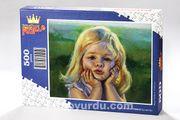 Sevimli Kız Ahşap Puzzle 500 Parça (CK08-D)