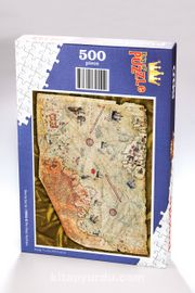 Piri Reis Haritası Ahşap Puzzle 500 Parça (HR02-D)