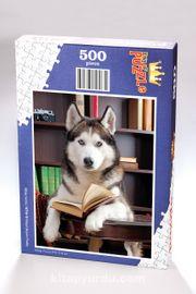 Kitap Okuyan Husky Ahşap Puzzle 500 Parça (KT10-D)