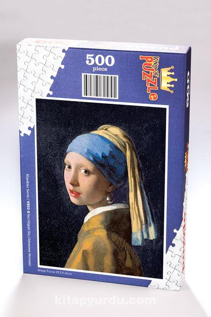 İnci Küpeli Kız - Johannes Vermeer Ahşap Puzzle 500 Parça (KR02-D)