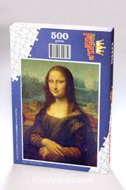 Mona Lisa - Leonardo da Vinci Ahşap Puzzle 500 Parça (KR06-D)