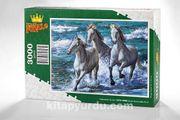 Deniz Kenarında Atlar Ahşap Puzzle 3000 Parça (HV75-MMM)