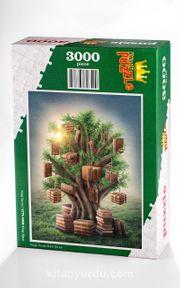 Kitap Ağacı Ahşap Puzzle 3000 Parça (KT75-MMM)
