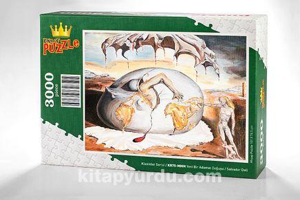 Yeni Bir Adamın Doğuşu / Salvador Dali Ahşap Puzzle 3000 Parça (KR75-MMM)