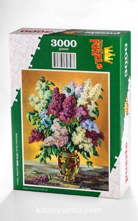 Leylaklar  Vazosu Ahşap Puzzle 3000 Parça (NT76-MMM)