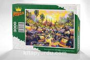 Su Kenarında Yaşam Tayland Ahşap Puzzle 3000 Parça (UK75-MMM)