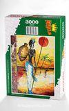 Testili Afrikalı Kadın Zaire Ahşap Puzzle 3000 Parça (UK77-MMM)