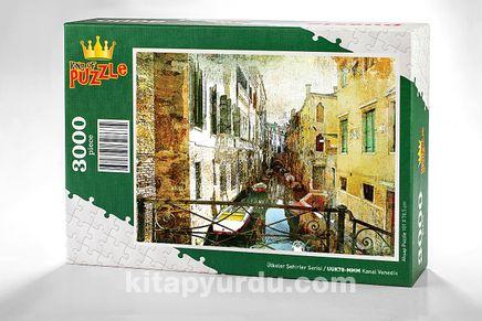 Kanal Venedik Ahşap Puzzle 3000 Parça (UK78-MMM)