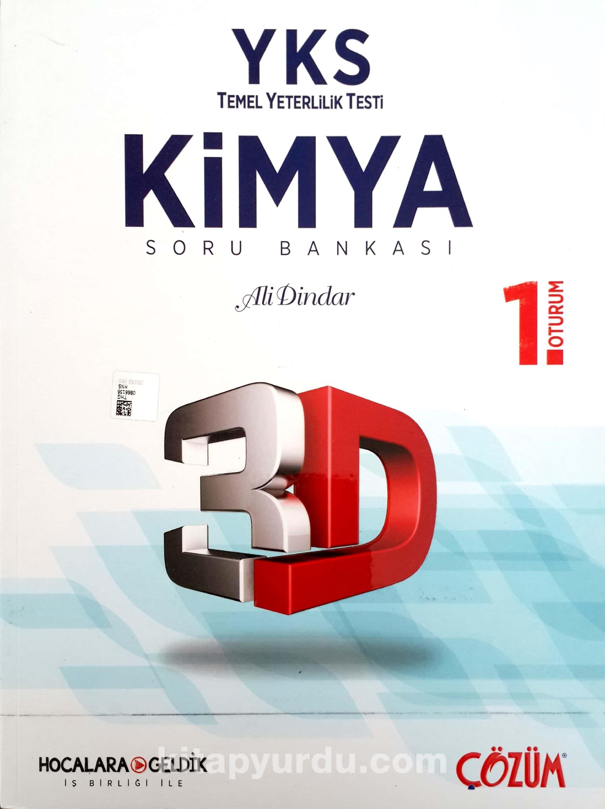 YKS TYT 1. Oturum 3D Kimya Soru Bankası - Kollektif pdf epub