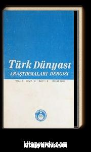 Türk Dünyası Araştırma Dergisi  Ekim 1980 / Sayı:8 (2-D-33)