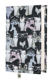Kitap Kılıfı - Gözlüklü Kedi (M - 31x21cm)
