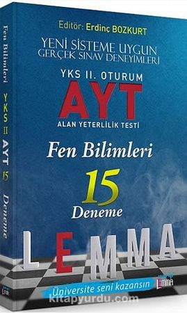 YKS Lemma 2. Oturum AYT Fen Bilimleri 15 Deneme - Kollektif pdf epub