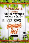 KPSS Genel Yetenek Genel Kültür Çek Kopar Yaprak Test