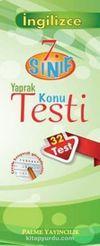 7.Sınıf İngilizce Yaprak Testi