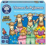 Sevimli Lamalar İkili Eşleştirme Mini Kutu Oyunu (3-6 Yaş)