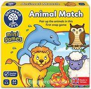 Sevimli Hayvanlar İkili Eşleştirme Kartları Mini Kutu Oyunu (3-6 Yaş)