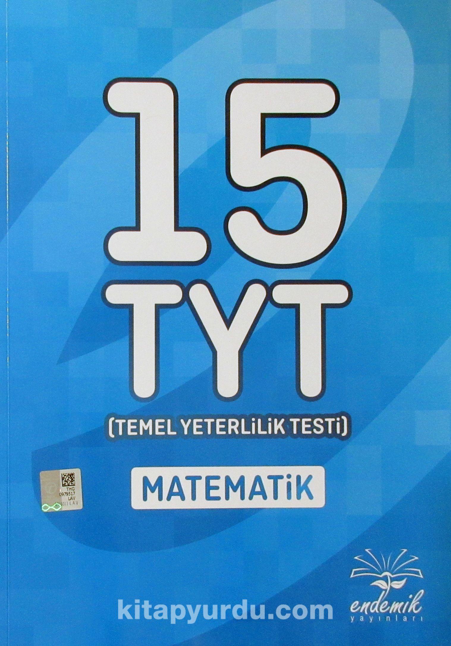 YKS 1. Oturum TYT Matematik Tamamı Çözümlü 15 Deneme
