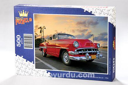 Chevrolet Bel Air - 1954 Ahşap Puzzle 500 Parça (TT02-D)