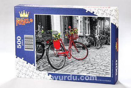 Kırmızı Bisiklet Ahşap Puzzle 500 Parça (TT04-D)