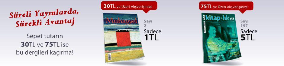 """30TL ve Üzeri Alışverişinize """" Muhayyel Dergisi Sayı:2 Haziran 2018"""" Sadece 1 TL"""
