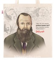 Askılı Bez Çanta - Dostoyevski