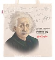 Askılı Bez Çanta - Albert Einstein
