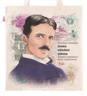 Askılı Bez Çanta - Nikola Tesla