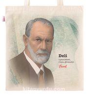 Askılı Bez Çanta - Sigmound Freud