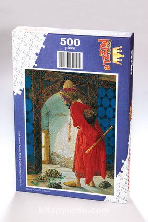 Kaplumbağa Terbiyecisi Ahşap Puzzle 500 Parça (TS04-D)