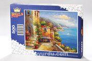 Liman Manzarası Yunanistan Ahşap Puzzle 500 Parça (UK04-D)
