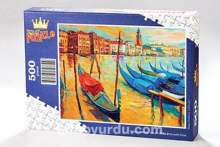Venedik İtalya Ahşap Puzzle 500 Parça (UK06-D)