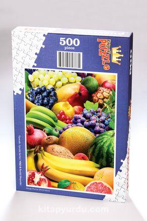 Renkli Meyveler Ahşap Puzzle 500 Parça (YI02-D)