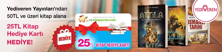 Yediveren Yayınları'dan 50TL ve üzeri kitap alana ''Kitap Hediye Kartı (25 TL)'' hediye…