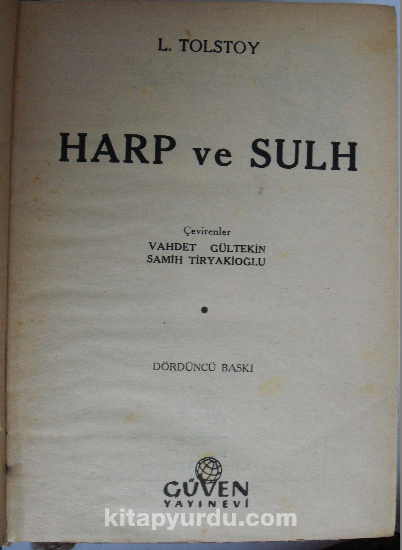 Harp ve Sulh (Kod:6-A-24) - Lev N. Tolstoy pdf epub