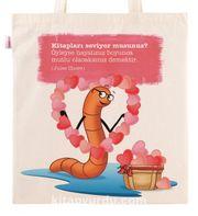Askılı Bez Çanta - Aşk