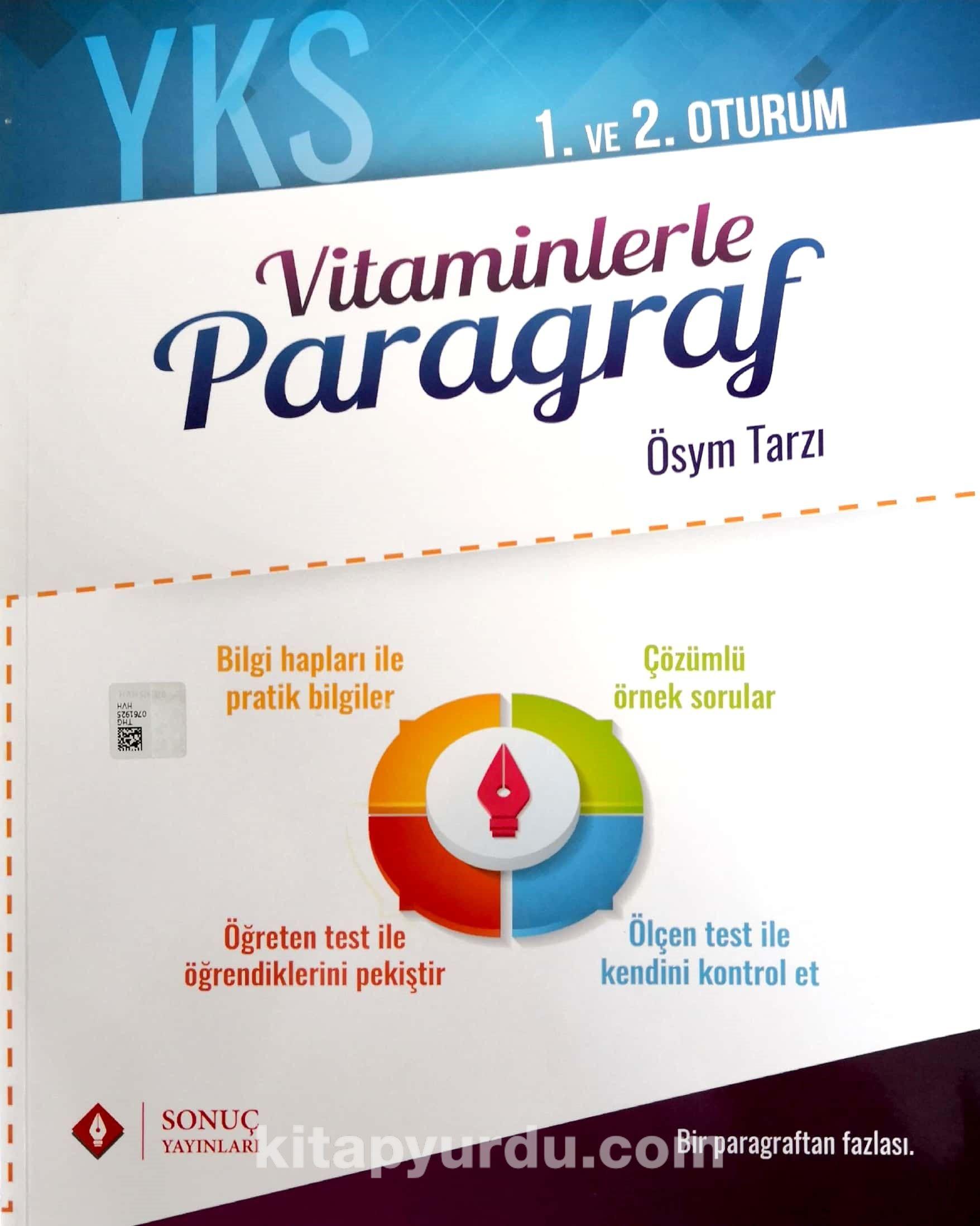 YKS 1. Ve 2. Oturum Vitaminlerle Paragraf - Kollektif pdf epub