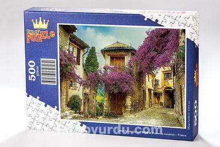 Provence Sokakları - Fransa Ahşap Puzzle 500 Parça (SK08-D)