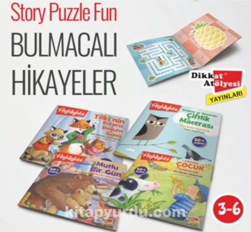 Highlights Sticker Bulmacalı Hikayeler 4'lü Set - Kollektif pdf epub