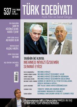 Türk Edebiyatı Aylık Fikir ve Sanat Dergisi Temmuz 2018 Sayı: 537