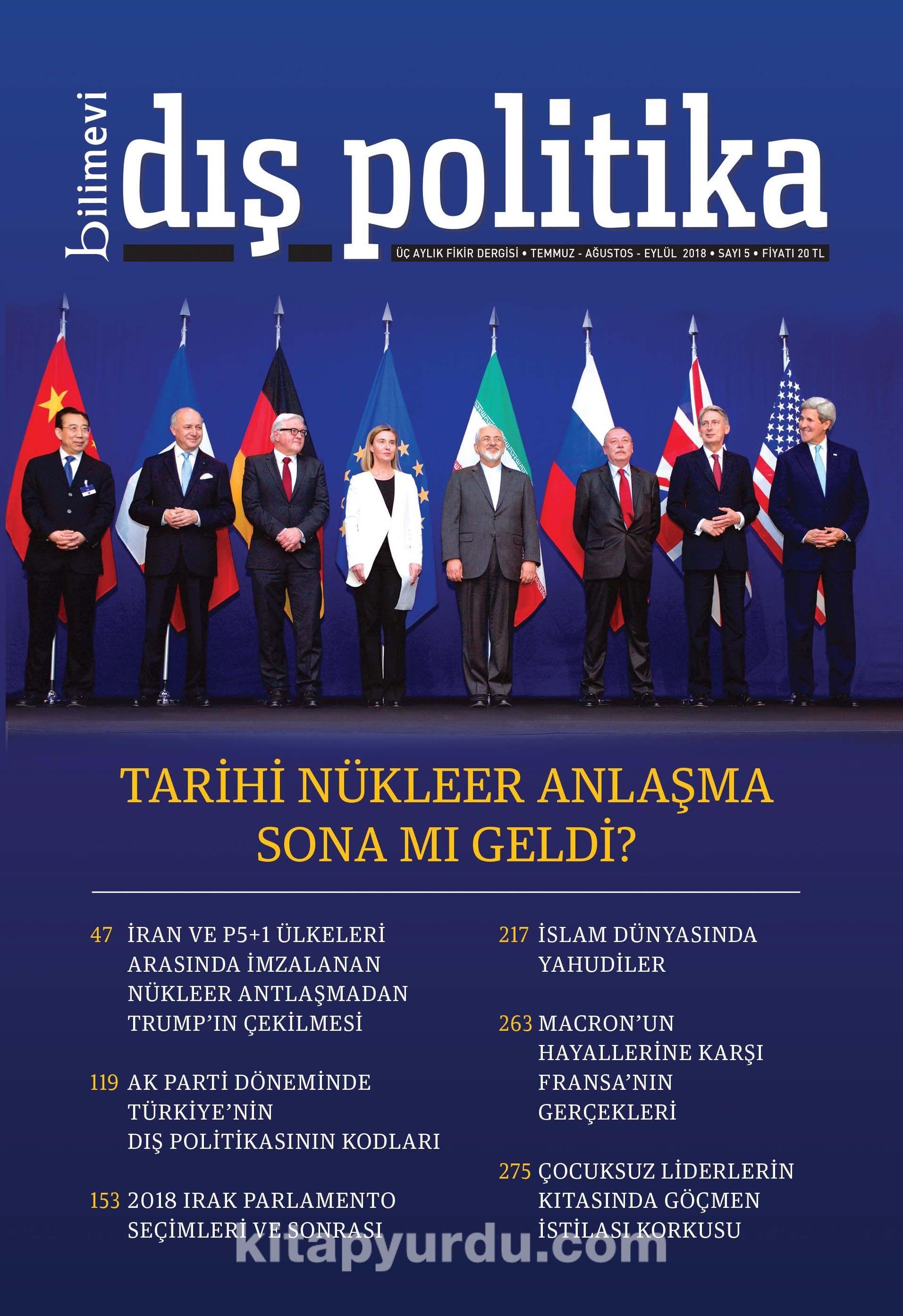 Bilimevi Dış Politika Üç Aylık Fikir Dergisi Temmuz Ağustos Eylül 2018 Sayı:5 -  pdf epub