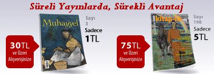 """30TL ve Üzeri Alışverişinize """"Muhayyel Dergisi Sayı:3 Temmuz 2018"""" Sadece 1TL"""