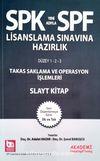 SPF Lisanslama Sınavına Hazırlık Takas Saklama Ve Operasyon İşlemleri Slayt Kitap