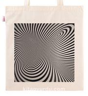 Askılı Bez Çanta - Optik İllüzyon - Geçit Kare
