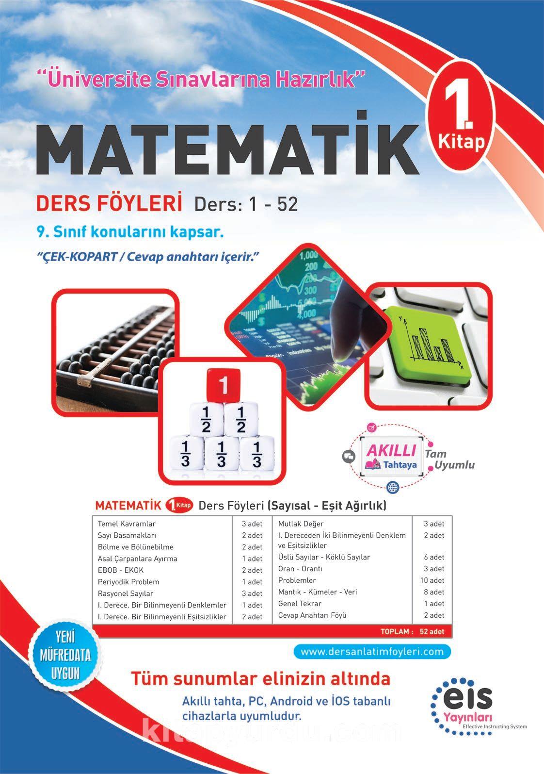 Matematik 1. Kitap Ders Föyleri Ders:1-52 - Kollektif pdf epub