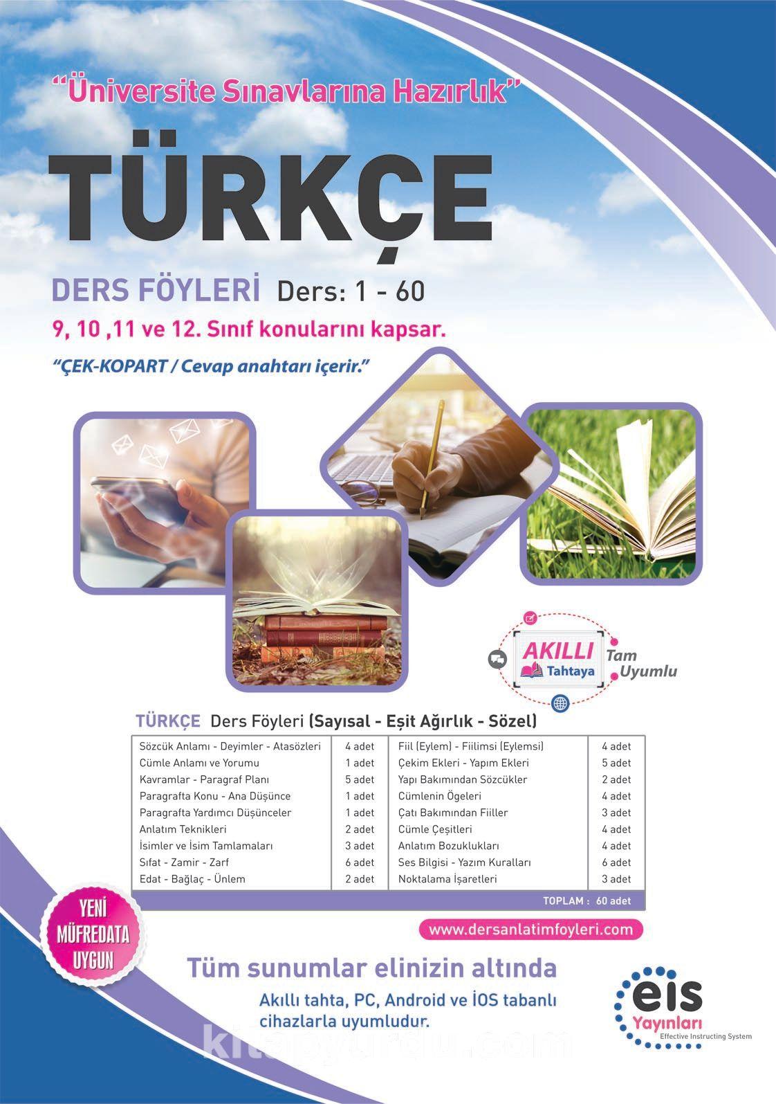 Türkçe Ders Föyleri Ders:1-60 (9,10,11 ve 12. Sınıf Konuları) - Kollektif pdf epub