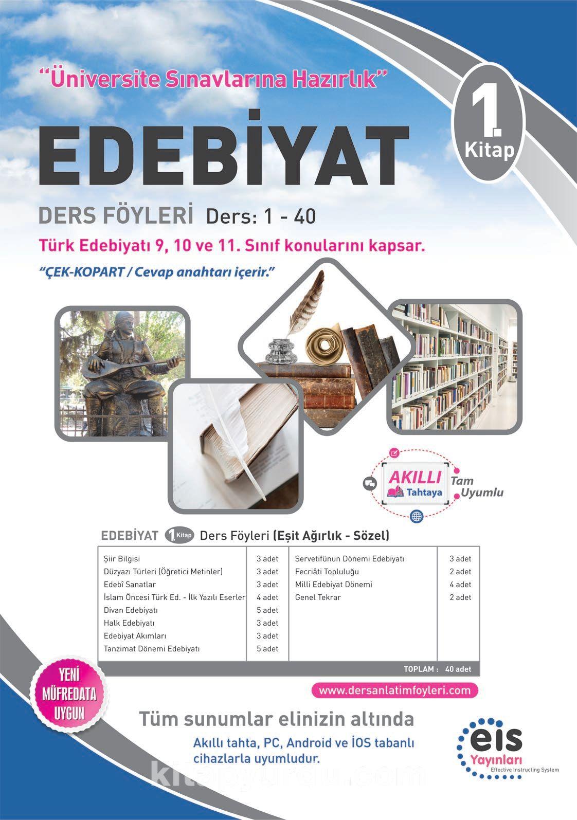 Edebiyat 1. Kitap Ders Föyleri Ders:1-40 (Türk Edebiyatı 9,10 ve 11. Sınıf Konuları) - Kollektif pdf epub